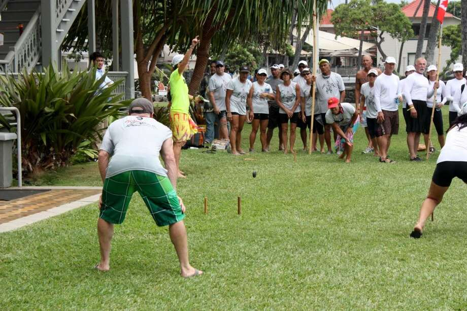 "The Alii Challenge, which combines paddling with ""Amazing Race""-style events, includes the traditional Hawaiian game  of ʻulu maika."