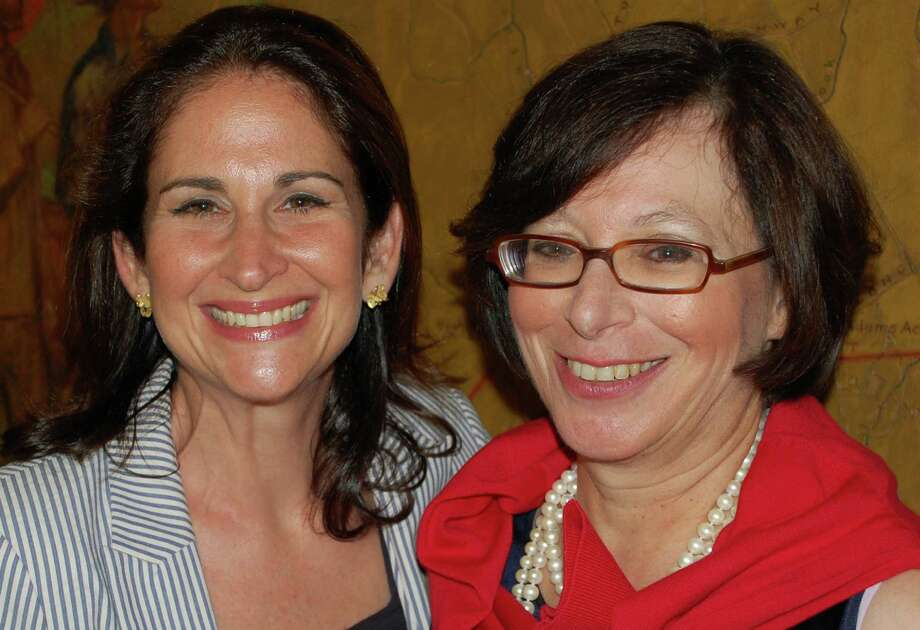 Helen Garten, right, longtime Board of Finance member, and Melissa Kane, Representative Town Meeting member, were unanimously endorsed Thursday by the Democratic Town Committee to run for first selectman and selectman, respectively. Photo: Jarret Liotta / Westport News contributed