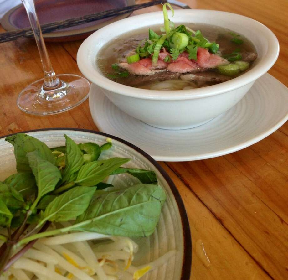 Beef pho at the Slanted Door