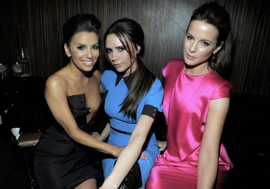 HOLLYWOOD, CA - FEBRUARY 23:  Actress Eva Longoria, designer Victoria Beckham and actress Kate Beckinsale attend the Vanity Fair and Chrysler celebration of The Eva Longoria Foundation hosted by Eva Longoria on Thursday, February 23 at Beso Hollywood. Photo: Charley Gallay, Getty Images For VF / 2012 Getty Images