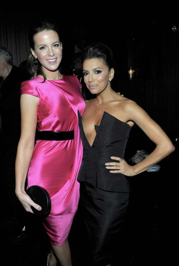 HOLLYWOOD, CA - FEBRUARY 23:  Actresses Kate Beckinsale (L) and Eva Longoria attend the Vanity Fair and Chrysler celebration of The Eva Longoria Foundation hosted by Eva Longoria on Thursday, February 23 at Beso Hollywood. Photo: Charley Gallay, Getty Images For VF / 2012 Getty Images