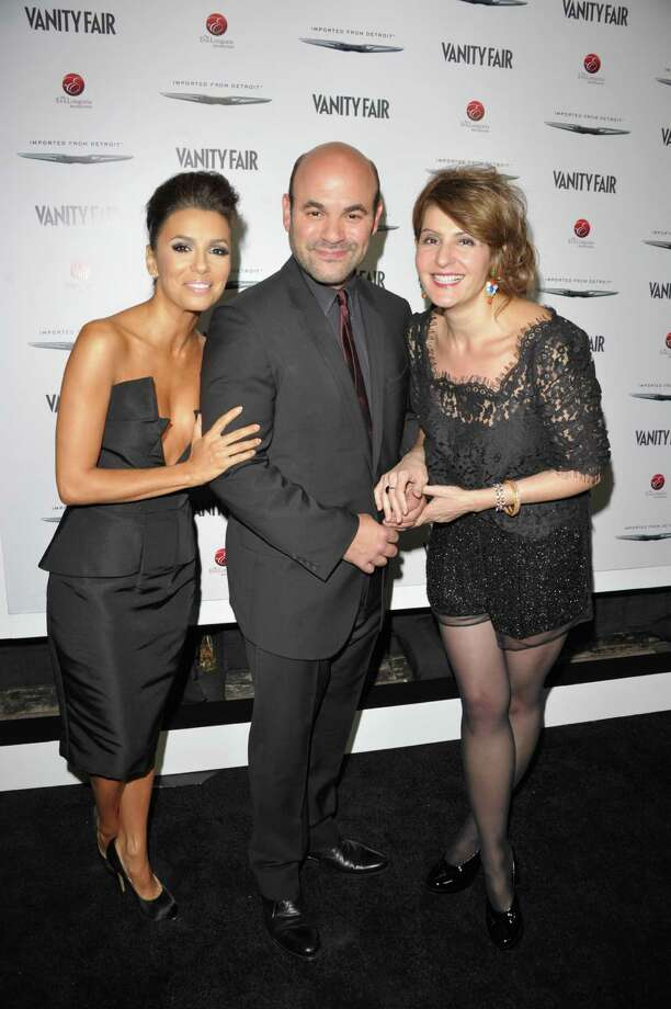 HOLLYWOOD, CA - FEBRUARY 23:  (L-R) Actors Eva Longoria, Ian Gomez and Nia Vardalos attend the Vanity Fair and Chrysler celebration of The Eva Longoria Foundation hosted by Eva Longoria on Thursday, February 23 at Beso Hollywood. Photo: John Shearer, Getty Images For VF / 2012 Getty Images