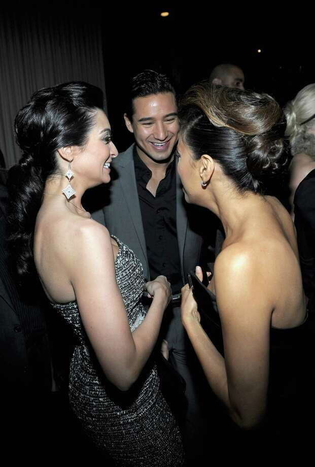 HOLLYWOOD, CA - FEBRUARY 23:  (L-R) Courtney Mazza, TV Personality Mario Lopez and actress Eva Longoria attend the Vanity Fair and Chrysler celebration of The Eva Longoria Foundation hosted by Eva Longoria on Thursday, February 23 at Beso Hollywood. Photo: Charley Gallay, Getty Images For VF / 2012 Getty Images
