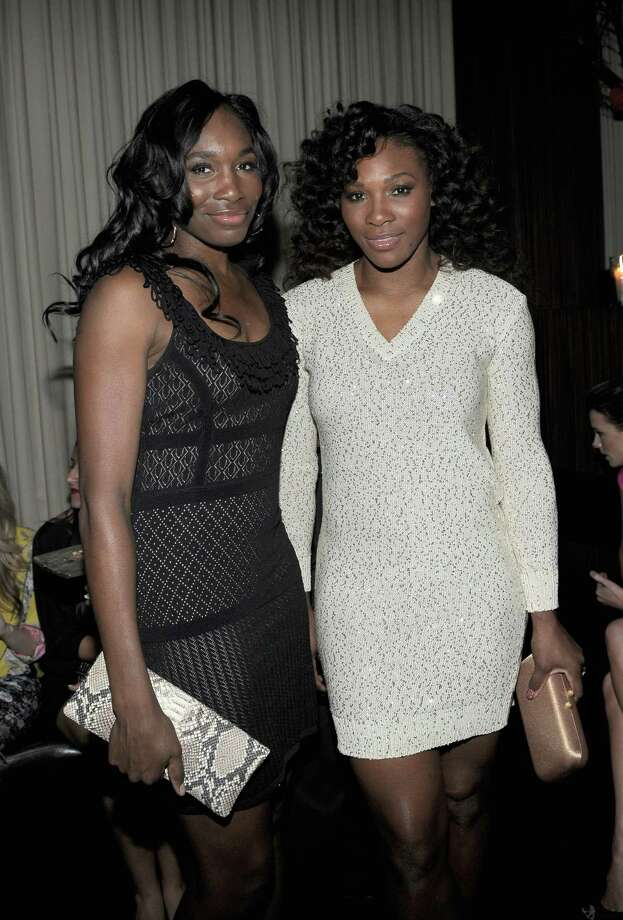 HOLLYWOOD, CA - FEBRUARY 23:  Professional tennis players Venus Williams (L) and Serena Williams attend the Vanity Fair and Chrysler celebration of The Eva Longoria Foundation hosted by Eva Longoria on Thursday, February 23 at Beso Hollywood. Photo: Charley Gallay, Getty Images For VF / 2012 Getty Images