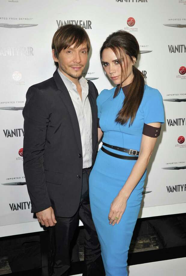HOLLYWOOD, CA - FEBRUARY 23: Stylist Ken Paves (L) and designer Victoria Beckham attends the Vanity Fair and Chrysler celebration of The Eva Longoria Foundation hosted by Eva Longoria on Thursday, February 23 at Beso Hollywood. Photo: John Shearer, Getty Images For VF / 2012 Getty Images