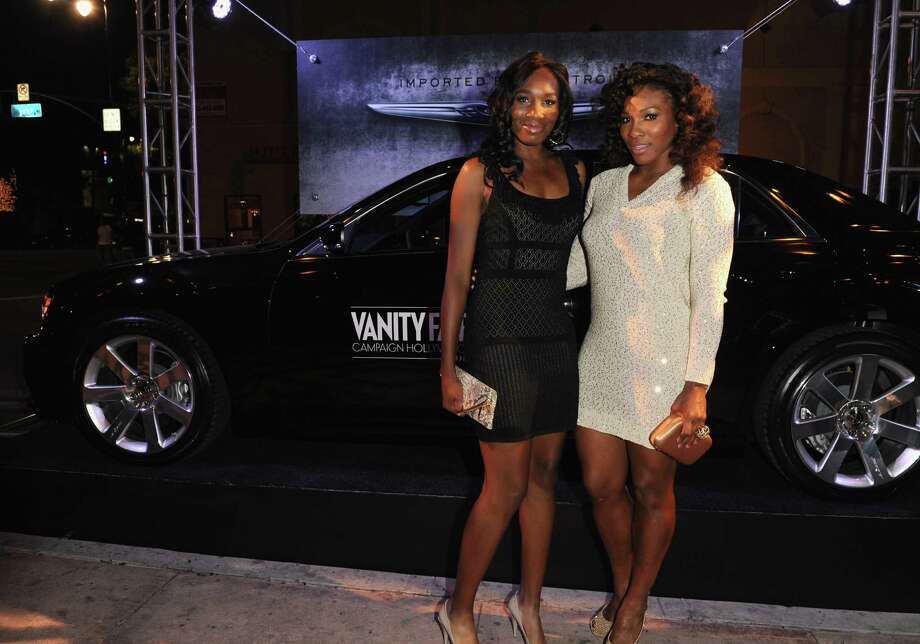 HOLLYWOOD, CA - FEBRUARY 23:  Professional Tennis Players Venus Williams (L) and Serena Williams attend the Vanity Fair and Chrysler celebration of The Eva Longoria Foundation hosted by Eva Longoria on Thursday, February 23 at Beso Hollywood. Photo: Craig Barritt, Getty Images For VF / 2012 Getty Images
