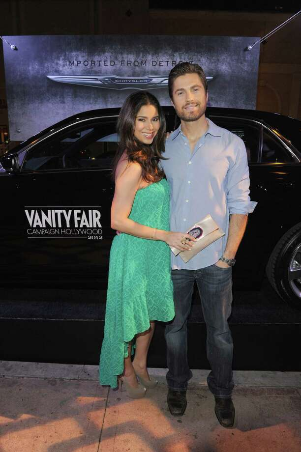 HOLLYWOOD, CA - FEBRUARY 23:  Actors Roselyn Sanchez (L) and Eric Winter attend the Vanity Fair and Chrysler celebration of The Eva Longoria Foundation hosted by Eva Longoria on Thursday, February 23 at Beso Hollywood. Photo: Craig Barritt, Getty Images For VF / 2012 Getty Images