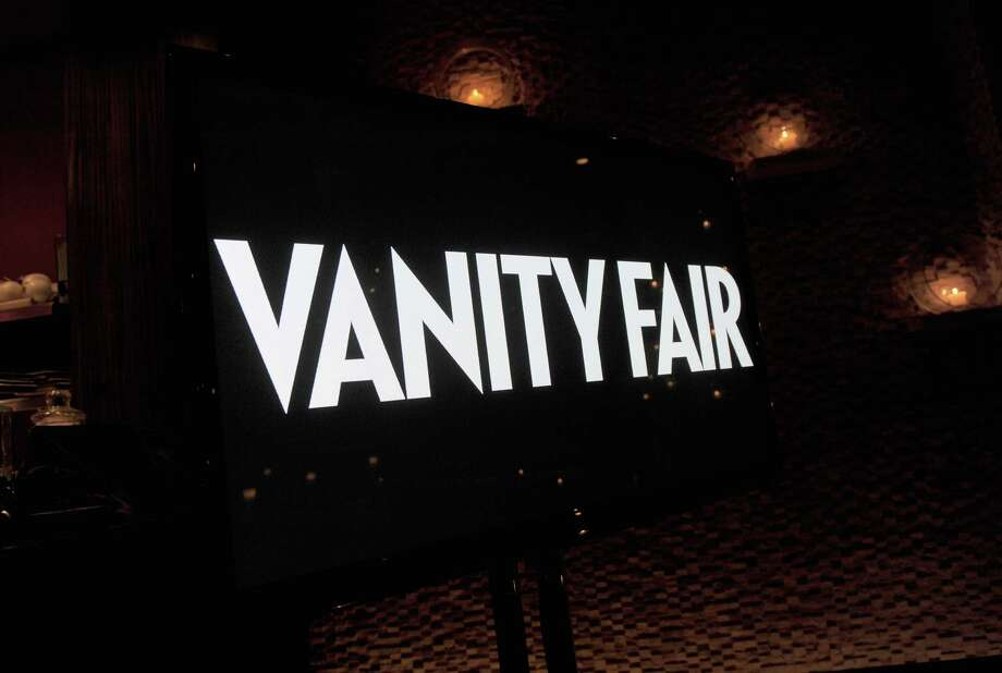 HOLLYWOOD, CA - FEBRUARY 23:  A view of the Vanity Fair signage at the Vanity Fair and Chrysler celebration of The Eva Longoria Foundation hosted by Eva Longoria on Thursday, February 23 at Beso Hollywood. Photo: Charley Gallay, Getty Images For VF / 2012 Getty Images