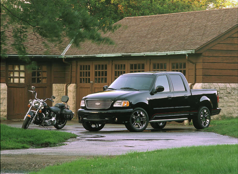2001 Ford F-150 Harley-Davidson: Ford unveils the second Harley-Davidson edition based on an F-150 SuperCrew. (09/27/2007) Photo: Ford, Wieck / © 2007 Ford Motor Company