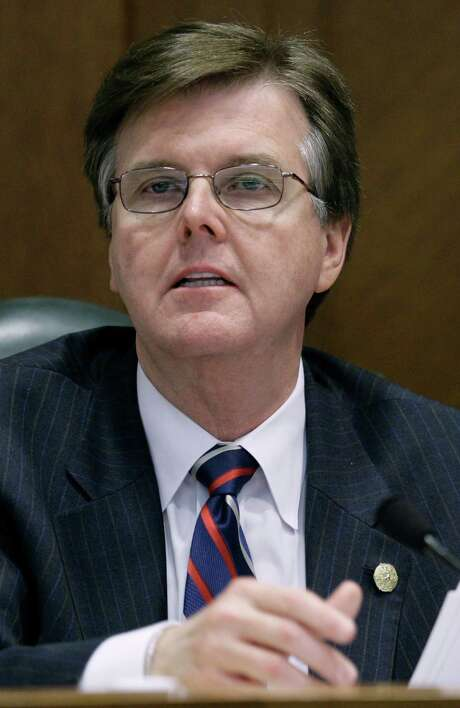Sen. Dan Patrick, R-Houston, calls on a witness during a meeting of the Senate Education Committee as they hear testimony about giving private school vouchers to children with disabilities Tuesday, April 7, 2009, in Austin, Texas.  (AP Photo/Harry Cabluck) Photo: Harry Cabluck, STF / AP2009