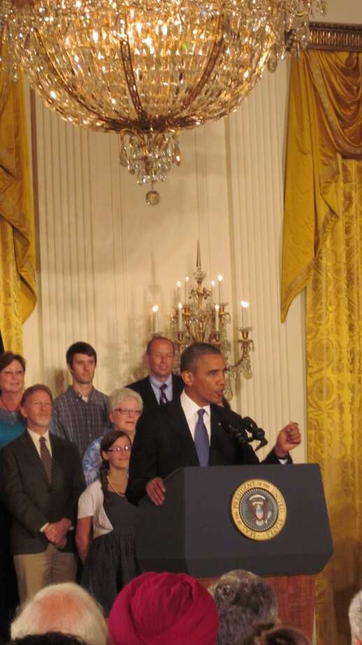 President Barack Obama touts the Affordable Care Act after House Republicans voted to delay the health care program. July 18, 2013 (Staff Photo)