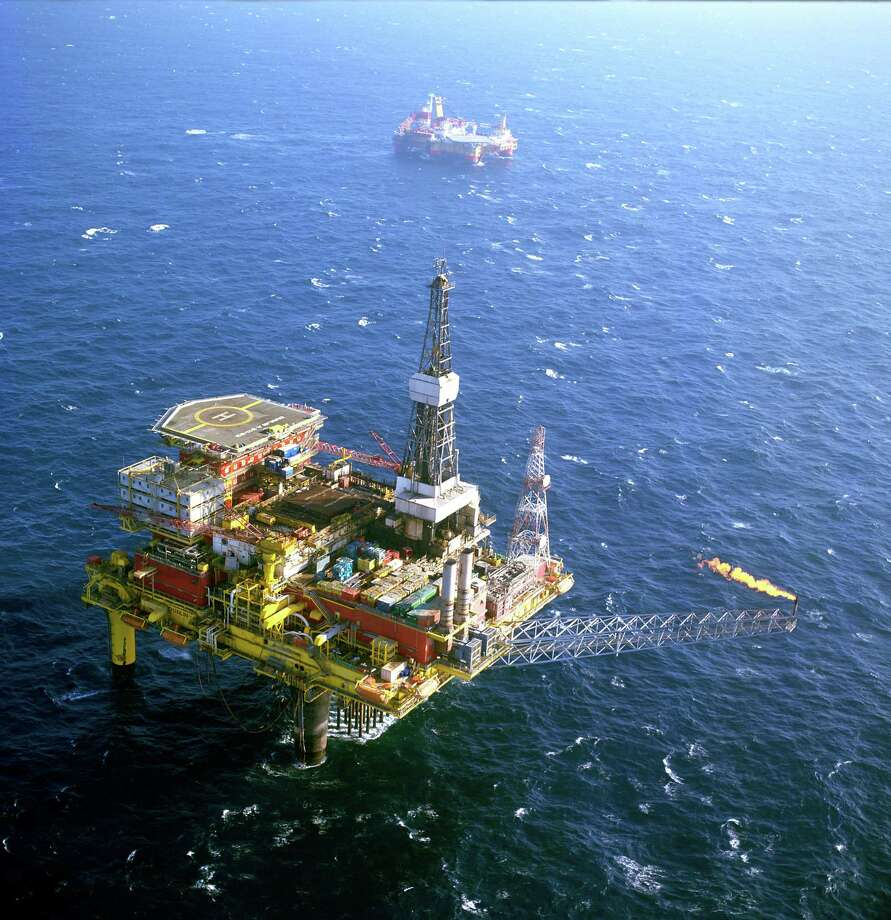 Oil companies have evacuated personnel from about 15 percent of the manned oil-production platforms and half of the working drilling rigs in the Gulf of Mexico in the wake of Hurricane Harvey, federal officials said Saturday.