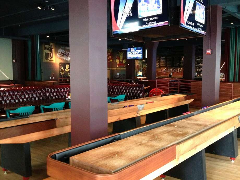 Shuffleboard at the Golden Gate Tap RoomThis sprawling spot at 669 Powell Street is adult game fantasyland featuring two full-size shuffleboard tables, foosball tables, skeeball machines and pool tables.  Address: 449 Powell Street, San Francisco