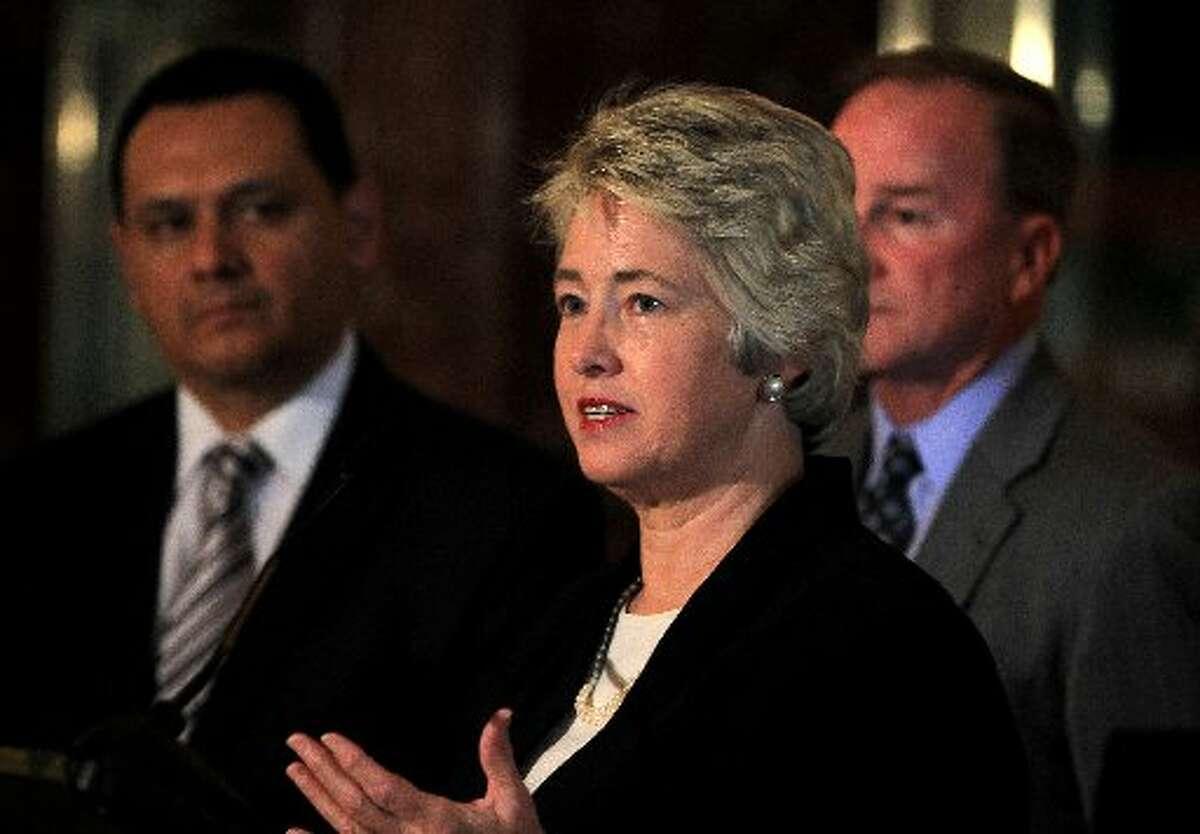 Parker is seeking a final two years as mayor. (Karen Warren / Houston Chronicle)