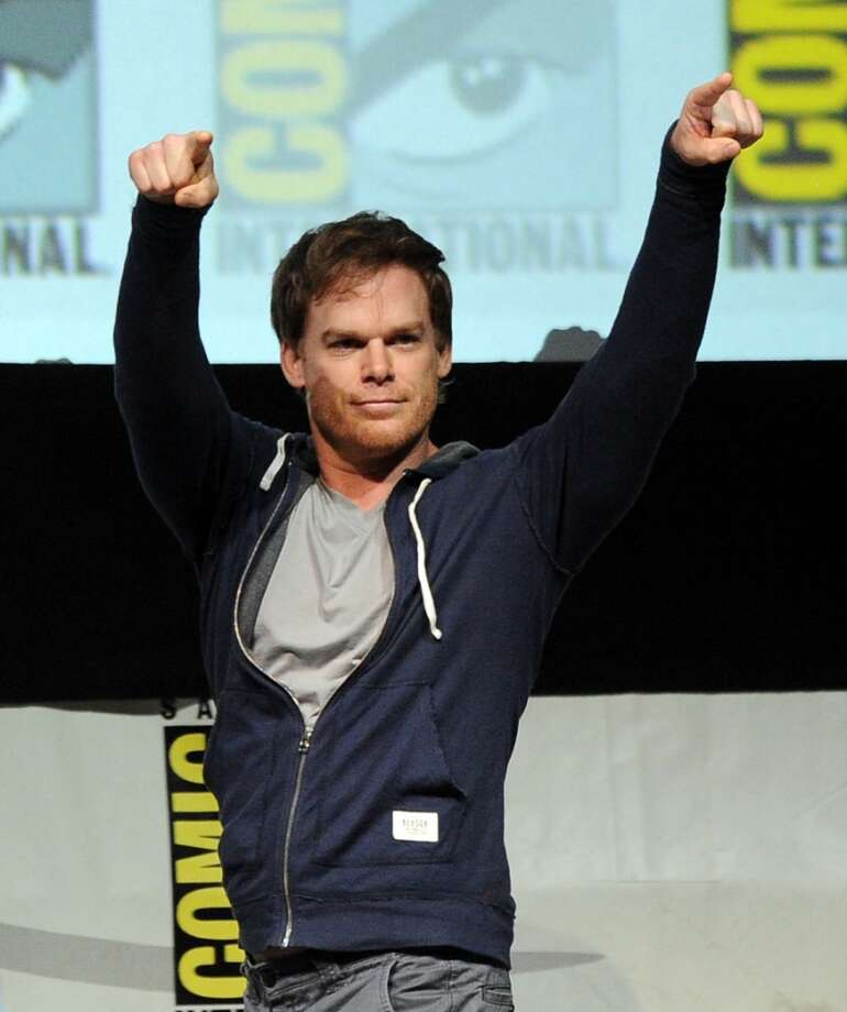 "Actor Michael C. Hall speaks onstage at Showtime's ""Dexter"" panel during Comic-Con International 2013 at San Diego Convention Center on July 18, 2013 in San Diego, California.  (Photo by Kevin Winter/Getty Images)"