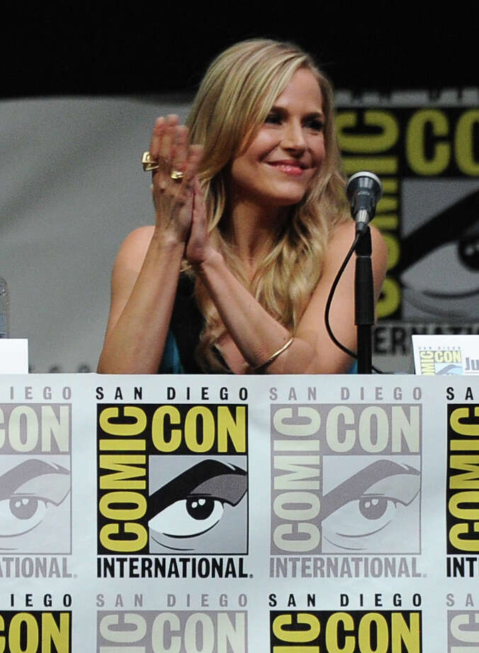 "Actress Julie Benz speaks onstage at Showtime's ""Dexter"" panel during Comic-Con International 2013 at San Diego Convention Center on July 18, 2013 in San Diego, California. Photo: Kevin Winter, Getty Images / 2013 Getty Images"
