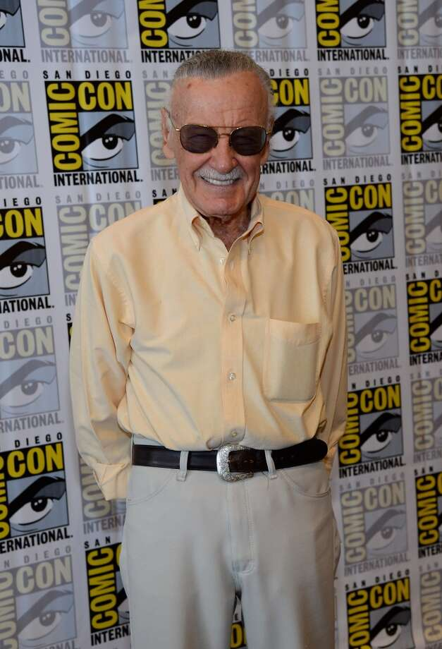 "Comic book icon Stan Lee attends his ""World of Heroes"" YouTube channel panel during Comic-Con International 2013 at the Hilton San Diego Bayfront Hotel on July 19, 2013 in San Diego, California.  (Photo by Ethan Miller/Getty Images)"