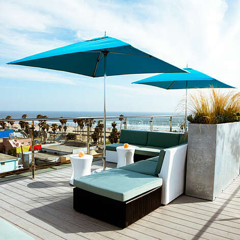 Rooftop drinks The views of Venice Beach—and Malibu, L.A., and Catalina—from Hotel Erwin Lounge go on and on. Regulars know to reserve a booth in advance. hotelerwin.com More: 42 perfect summer trips   Photo: Thomas J. Story, Sunset.com / Christian Horan Photography