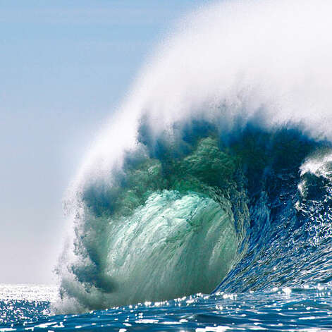 The wave The baddest waves in the world? Get to know Mavericks. What Mavericks is: The most perfect (and feared) surf break on Earth, and the namesake of the famous surf competition Where it hits: Half Moon Bay, south of San Francisco Where its waves originate: Near Alaska's Aleutian Islands, 3,000+ miles away Why it's so terrifying: Shallow reefs and jagged rocks, sharks, absurdly strong currents, and cold, cold water  How cold? 48°–55° Height of the vertical wave face: More than 40 feet on average—that's 4 stories Competition season: November–March, but not every year—if nature cooperates and a big-wave system is approaching, top surfers get 24 hours of notice to show up and hit the water Worth the risk? Surf like a champ and you'll be $150,000 richer. mavericksinvitational.com   Photo: Frans Lanting / Corbis, Sunset.com / © Corbis.  All Rights Reserved.