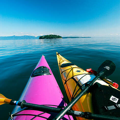 Sea kayaking No phones. No Wi-Fi. Consider these epic trips your QT with the ocean. Island hop. Explore the San Juans, a 500-island archipelago north of Seattle, by island hopping the little guys on an Outdoor Odysseys tour (pictured) with pit stops for beaching and lunch. Trip routes vary, but uninhabited Jones Island is state park as private kingdom. From $95; trips depart from San Juan Island; outdoorodysseys.com   Scope out a sea cave. Two-hour trips with San Diego's OEX Dive & Kayak will take you inside the Clam—a La Jolla cave you can enter (at high tide, you can go all the way through). See if you can spot any leopard shark silhouettes below. From $50; oeexpress.com  Paddle through wine country. Glide along the famed Russian River where it meets the ocean at Jenner, California. On this lesser-visited sliver of the Sonoma Coast, the biggest crowd might very well be a gaggle of harbor seals right near the mouth. Rent kayaks from Lotus. $20/day; 707/865-9604.    Photo: Steve MacAulay, Sunset.com / Steve MacAulay