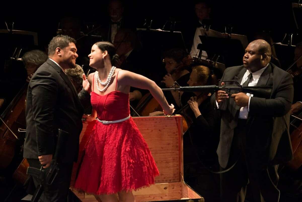 Pene Pati (l.), Zanda Svede and Issachah Savage in Rossini's