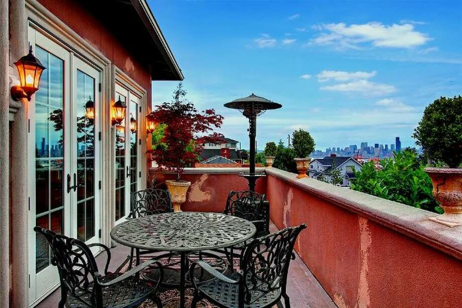 Balcony of 3307 S.W. Andover St. It's listed for $1.199 million. Photo: Courtesy Adam E. Cobb, Windermere Real Estate