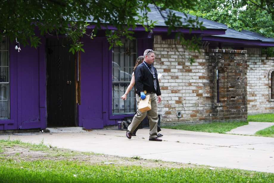 "A 911 call brought police to a north Houston home described as a ""dungeon"" where four elderly men were being held captive. Photo: Cody Duty, Houston Chronicle"