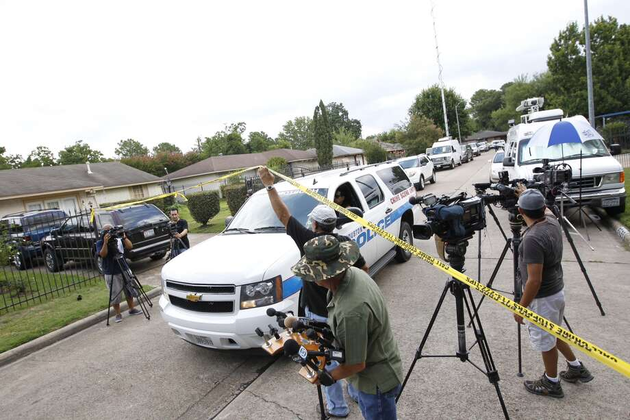 Police are investigating a report that four people were being held against their will at a home in north Houston Friday morning, July 19, 2013. The incident occurred about 8:30 a.m. at 8646 White Castle near Old Ledge, according to the Houston Police Department