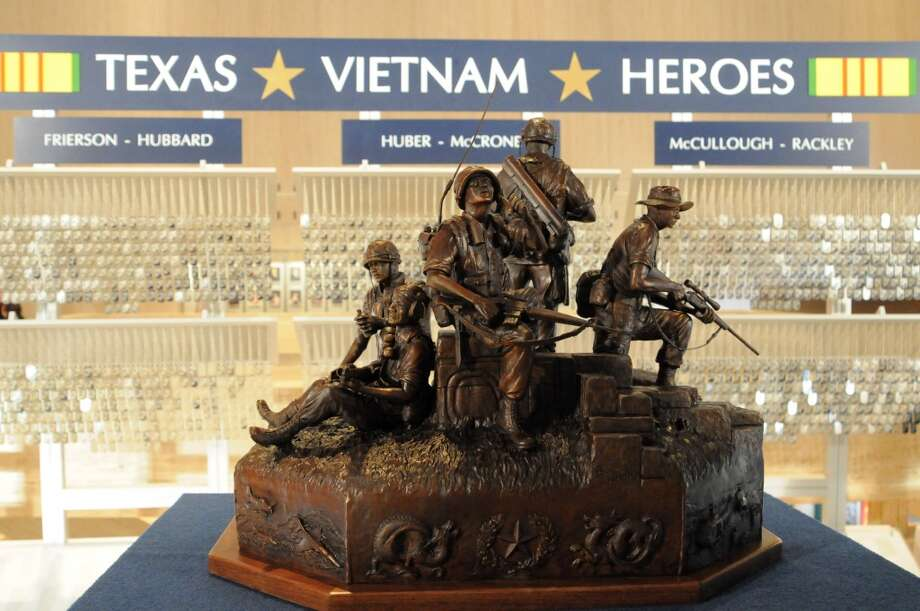 The exhibit includes a scale model of the 14-foot high bronze monument that will be installed on the Texas Capitol grounds March 29, 2014.