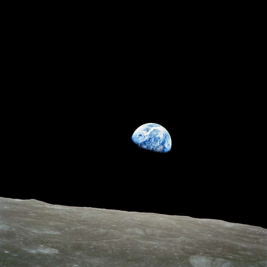 "The original ""Earth rise"" image taken by Apollo 8 crewmember Bill Anders on December, 24, 1968. This phenomena is only visible from lunar orbit."