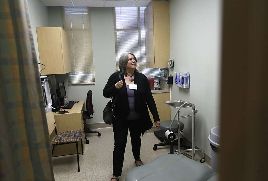Marin County Supervisor Susan Adams tours the Planned Parenthood clinic in San Rafael. Critics blasted her over voting to use county funds to renovate it. Photo: Michael Macor, San Francisco Chronicle