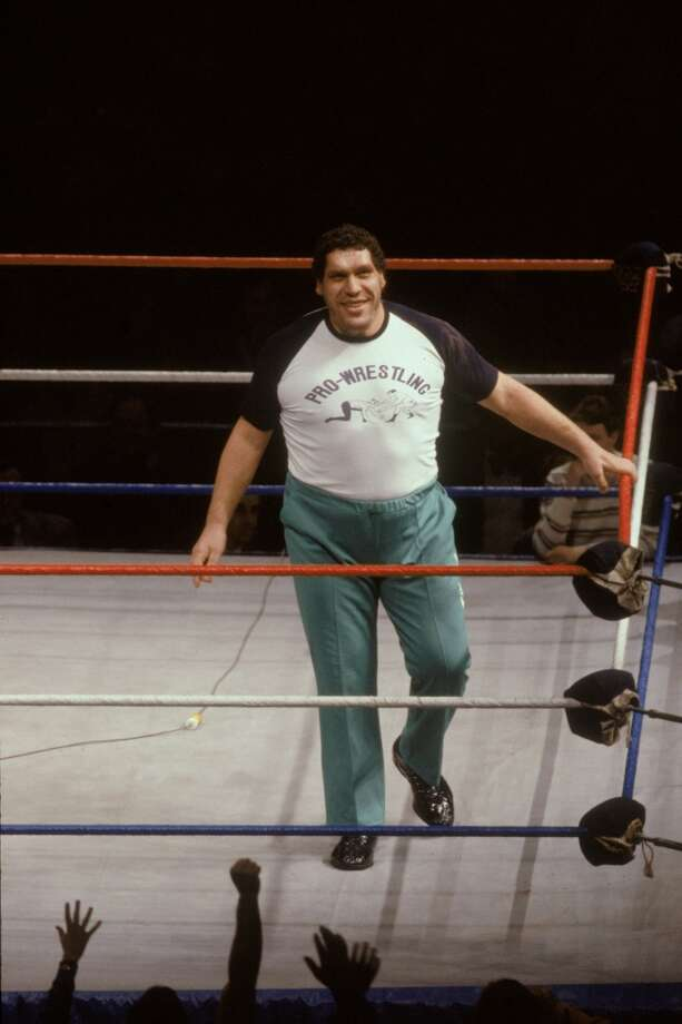 Andre the Giant was charged with assaulting a TV anchor in Iowa in 1989.