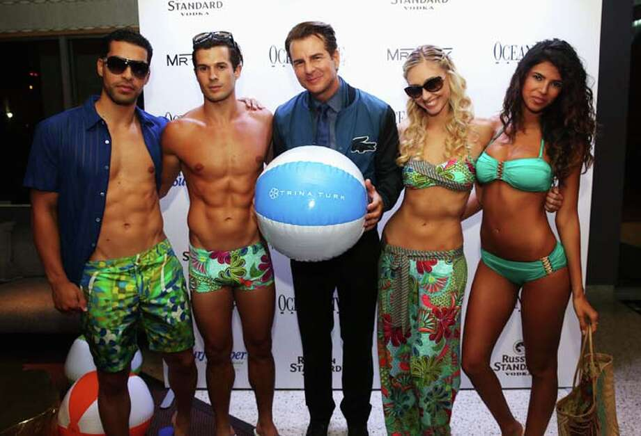 MIAMI, FL - JULY 18:  Actor Vincent de Paul (C) and models attend the Ocean Drive Magazine Issue Release Party hosted by Hannah Davis during Mercedes-Benz Fashion Week Swim 2014 on July 18, 2013 in Miami, Florida. Photo: Aaron Davidson, Getty Images For Mercedes-Benz Fashion Week Swim 2014 / 2013 Aaron Davidson