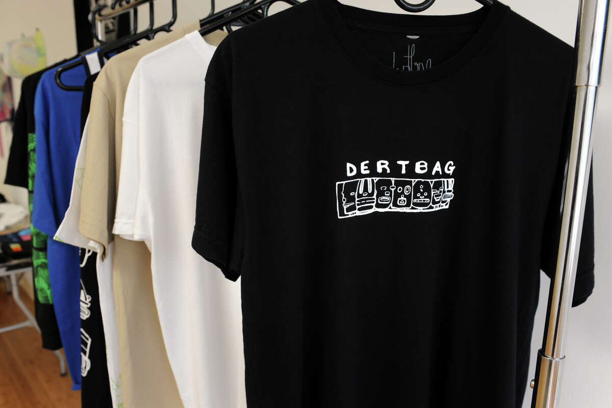 Philip Post, of Norwalk, recently opened a retail store for his Dertbag clothing line, in the Arcade Mall, Bridgeport, Conn., July 19th, 2013.
