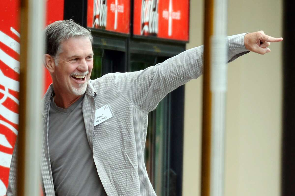 SUN VALLEY, ID - JULY 11: CEO of Netflix Reed Hastings attends the Allen & Co. annual conference at the Sun Valley Resort on July 11, 2013 in Sun Valley, Idaho. The resort is hosting corporate leaders for the 31st annual Allen & Co. media and technology conference where some of the wealthiest and most powerful executives in media, finance, politics and tech gather for weeklong meetings. Past attendees included Warren Buffett, Bill Gates and Mark Zuckerberg. (Photo by Kevork Djansezian/Getty Images)