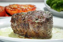 Steak lovers might enjoy the Filet with Broiled Tomatoes and Broccoli at Ruth's Chris Steak House.