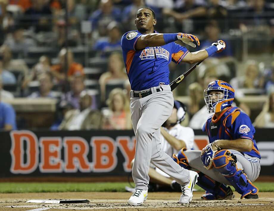 Yoenis Céspedes, who dominated the first round at the Home Run Derby on Monday, will have more witnesses to his batting-practice homers on Fridays. Photo: Kathy Willens, Associated Press