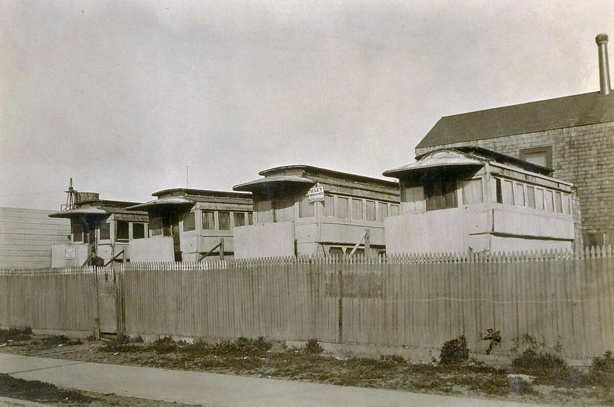 The last of Carville at the Beach on the East side of 48th Ave. near Jade St. on 1372-48th Ave. Photo taken Feb. 1925.