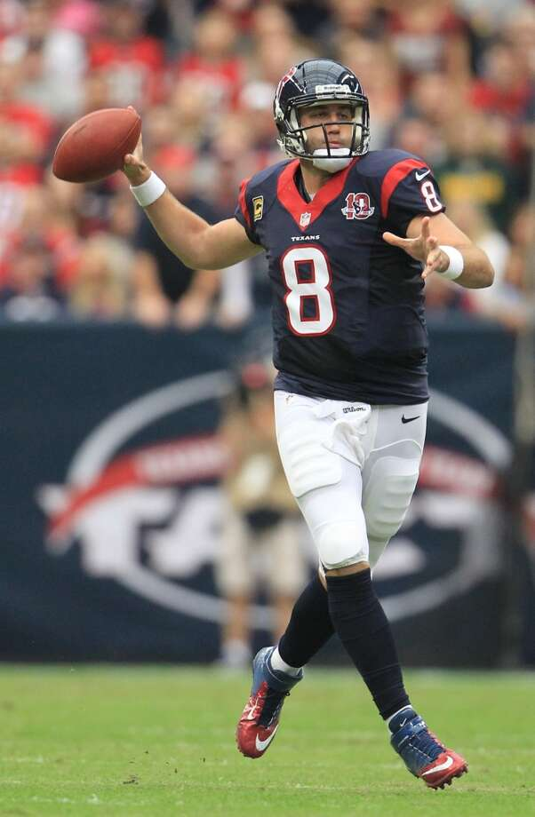 Quarterbacks  Starter: Matt Schaub.  Key backups: T.J. Yates, Case Keenum.  Comment: This position is set. Schaub is coming off his third 4,000-yard season. Schaub had 22 touchdowns and 12 interceptions. He threw only one touchdown pass over the last four games of the regular season. He has to play well from start to finish. If Keenum picks up in camp where he left off in the offseason program, he'll earn a roster spot behind Yates. Photo: Karen Warren, Houston Chronicle