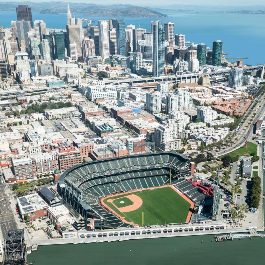 Nickolay Lamm, from self-storage search engine  created these illustrations of sea level rise at AT&T Park in San Francisco.