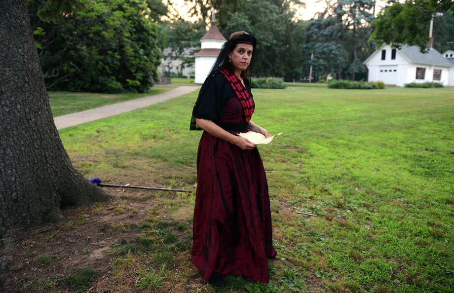 Lucy Babbitt, who plays Lady Macbeth, before The Players at Putney Gardens perform William Shakespeare's The Tragedy of Macbeth at Boothe Memorial Park in Stratford, Conn. on Friday July 19, 2013. The show continues Fridays and Saturdays July 12 through August 3rd at 8 p.m. Photo: Christian Abraham / Connecticut Post