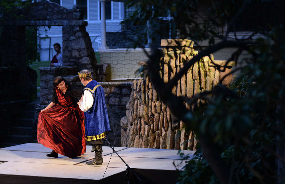 The Players at Putney Gardens perform William Shakespeare's The Tragedy of Macbeth at Boothe Memorial Park in Stratford, Conn. on Friday July 19, 2013. The show continues Fridays and Saturdays July 12 through August 3rd at 8 p.m. Photo: Christian Abraham / Connecticut Post
