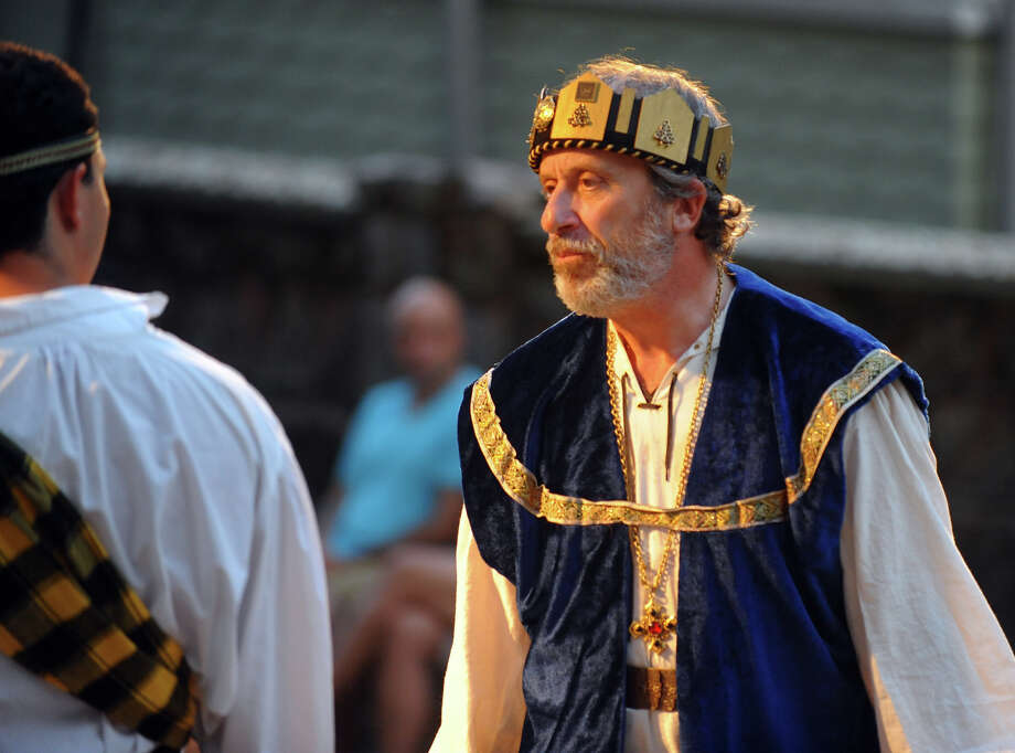 Frank Smith plays King Duncan, during The Players at Putney Gardens performance of William Shakespeare's The Tragedy of Macbeth at Boothe Memorial Park in Stratford, Conn. on Friday July 19, 2013. The show continues Fridays and Saturdays July 12 through August 3rd at 8 p.m. Photo: Christian Abraham / Connecticut Post