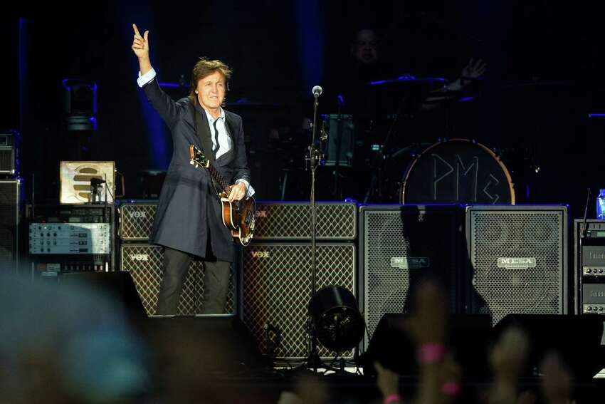 Sir Paul McCartney performs for nearly 45,000 screaming fans during the Seattle leg of his