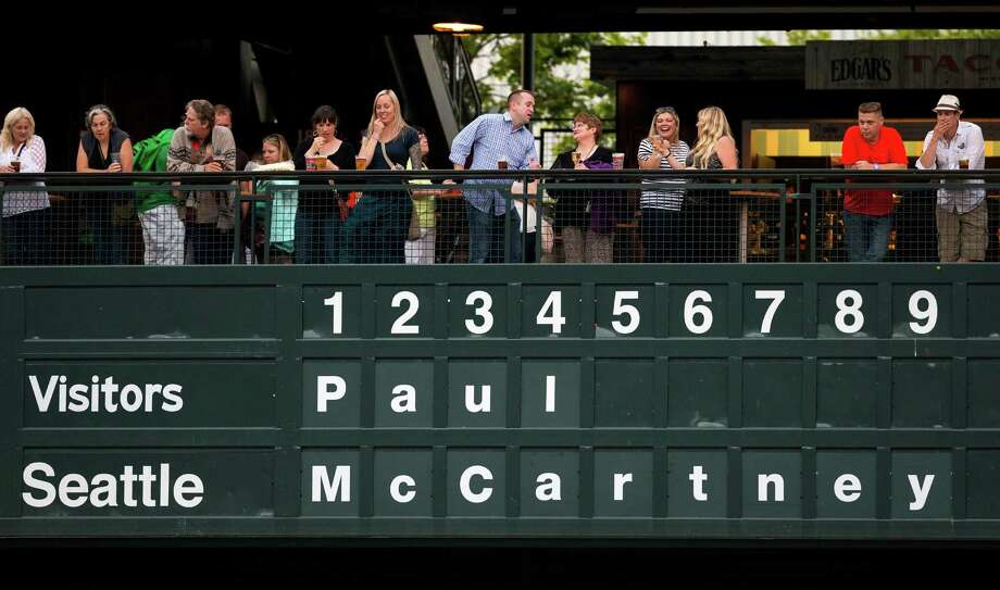 """Fans await Sir Paul McCartney's  """"Out There"""" Tour Friday, July 19, 2013, at Safeco Field in Seattle. The show marked the first public concert at Safeco Field since the stadium opened in 1999. Photo: JORDAN STEAD, SEATTLEPI.COM / SEATTLEPI.COM"""