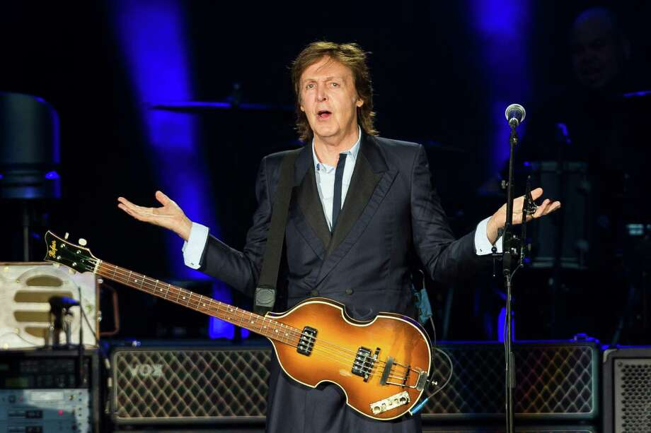 "Sir Paul McCartney performs for nearly 45,000 screaming fans during the Seattle leg of his ""Out There"" Tour Friday, July 19, 2013, at Safeco Field in Seattle. The show marked the first public concert at Safeco Field since the stadium opened in 1999. Photo: JORDAN STEAD, SEATTLEPI.COM / SEATTLEPI.COM"