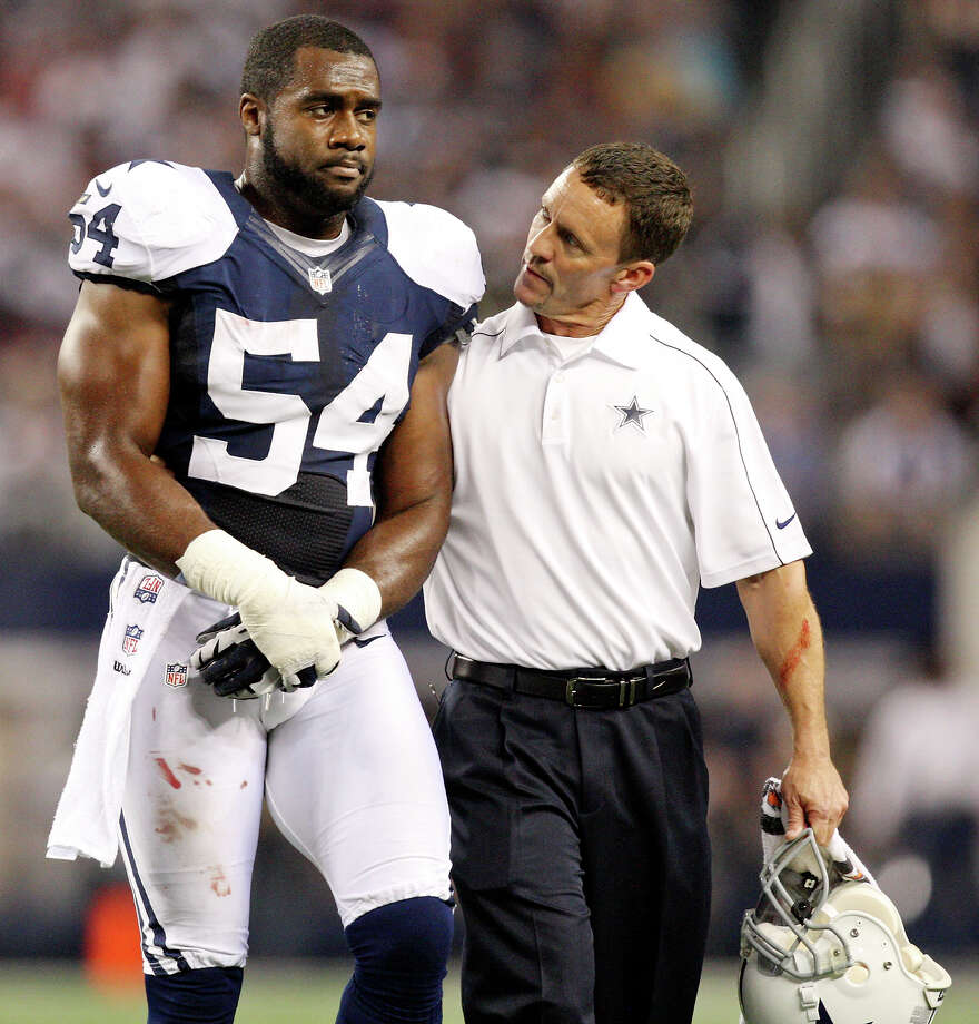 BRUCE CARTER Position: Linebacker Age: 25 What's gone right: Outstanding sideline-to-sideline range. What's gone wrong: Missed five games in 2012 with elbow injury. 2013 prediction: In third season, will be a force at weakside linebacker in Monte Kiffin's 4-3 scheme. Read Tom Orsborn's related column on ExpressNews.com: Season hinges on six young starters Photo: Edward A. Ornelas, San Antonio Express-News / © 2012 San Antonio Express-News