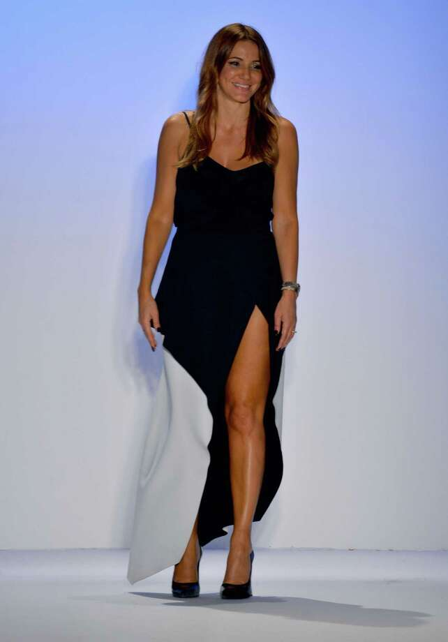 Designer Sue Di Chio walks the runway at the Suboo show. Photo: Frazer Harrison, Getty Images For Mercedes-Benz Fashion Week Swim 2014 / 2013 Getty Images