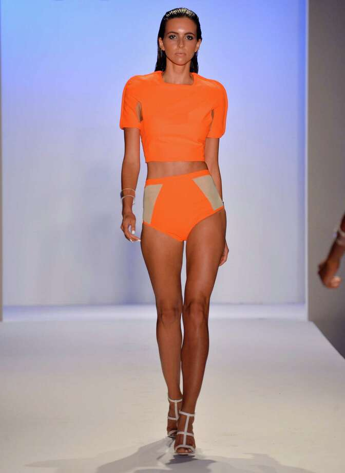 A model walks the runway at the Suboo show. Photo: Frazer Harrison, Getty Images For Mercedes-Benz Fashion Week Swim 2014 / 2013 Getty Images