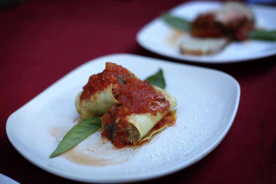 Cannelloni is shown during the first day of the annual Bite of Seattle on Friday, July 19, 2013 at the Seattle Center. The event features food from dozens of local restaurants and food vendors. The Bite of Seattle runs through Sunday evening. Photo: JOSHUA TRUJILLO, SEATTLEPI.COM / SEATTLEPI.COM